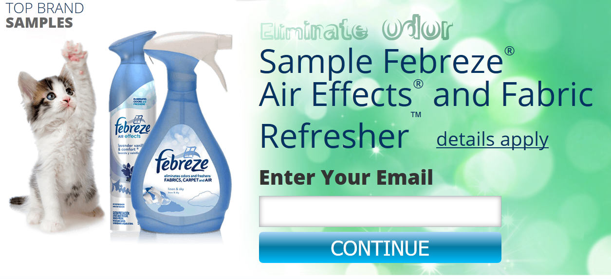 Free Febreze Samples