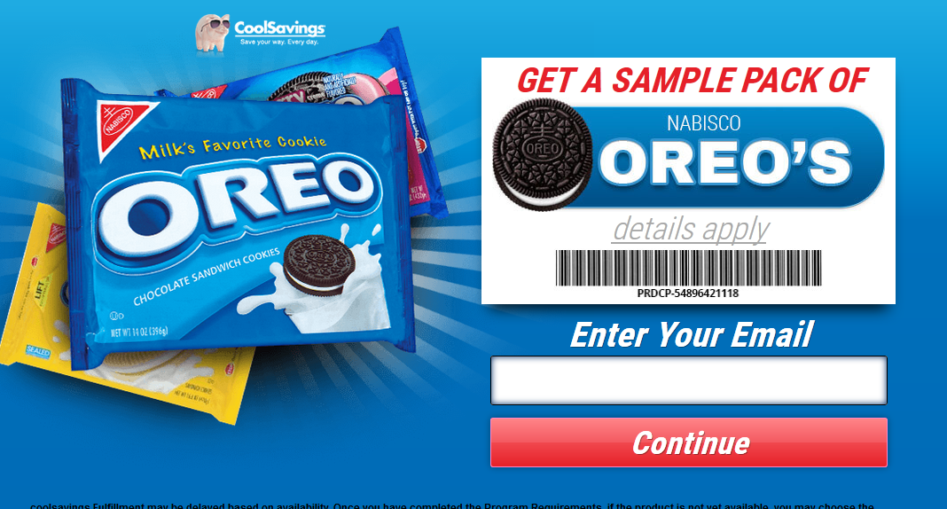 Free Samples of Oreo Cookies!